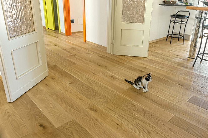 parquet in solid Tuscan oak, luxurious and unique