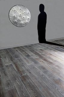 parquet in rovere prefinito e seghettato grigio