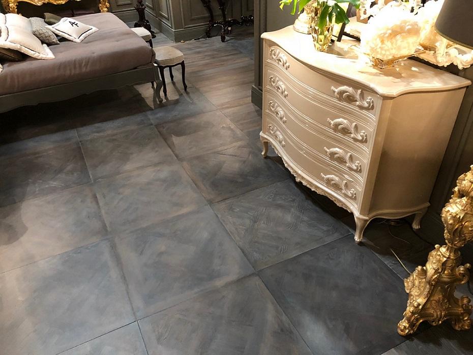 parquet versailles tile darkened corner view